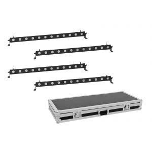 Set bare de leduri 4x Eurolite LED BAR-12 QCL RGBW + Case