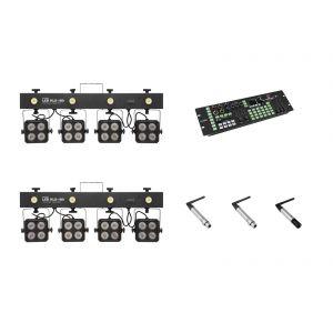 EUROLITE Set 2x KLS-180 + Color Chief + QuickDMX transmitter + 2x receiver