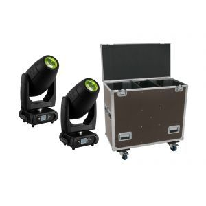 EUROLITE Set 2x DMH-300 CMY Moving-Head + Case