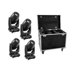 FUTURELIGHT Set 4x DMH-200 LED Moving-Head + Case