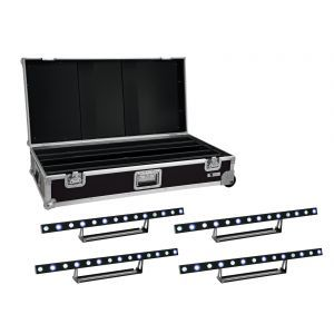 Set bare de leduri 4x Eurolite LED STP-7 Beam/Wash + case
