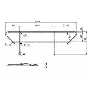 Balustrada Alutruss BE-1T pentru scara BE-1T