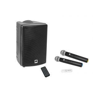 Omnitronic WMAS-08BT MK2 wireless PA system + UWM-2HH USB Wireless mic set