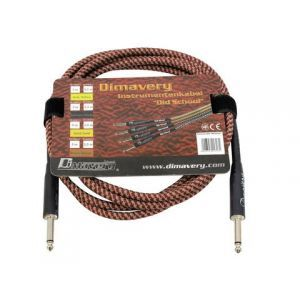 Cablu Instrument Dimavery br/rd jack 6.3 - jack 6.3 Mono 3m