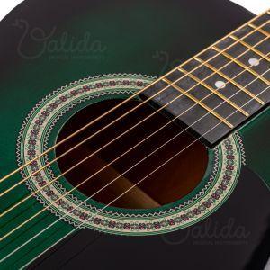 Chitara Acustica Valida V100 39 Green Sunburst