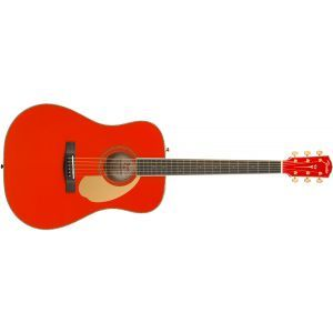 Chitara Electroacustica Fender PM-1 Dreadnought Fiesta Red Limited
