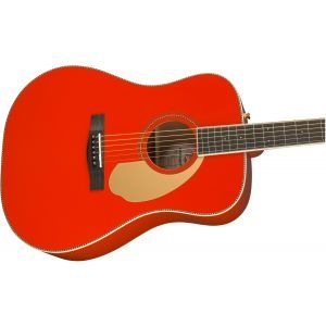 Fender PM-1 Dreadnought Fiesta Red Limited