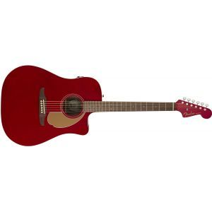 Chitara Electroacustica Fender Redondo Player Candy Apple Red