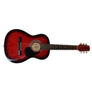 Hora Standard M 4/4 EQ Red Electro-Acoustic Guitar