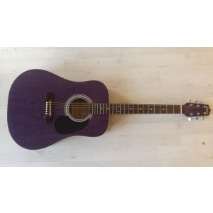 Hora W 12204 4/4 Pink EQ Electro-Acoustic Guitar