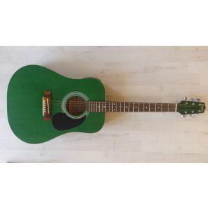 Hora W 12204 4/4 Green EQ Electro-Acoustic Guitar