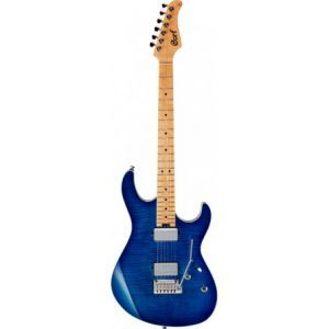 Chitare electrice Stratocaster Cort G2190FAT Bright Blue Burst