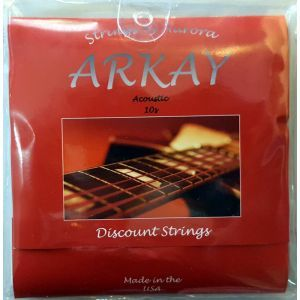 Corzi chitara acustica Aurora Arkay Acoustic 10s Red