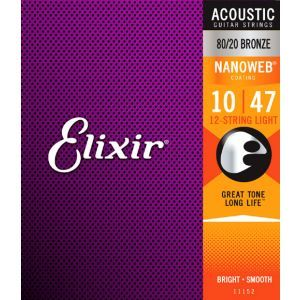 Elixir Nanoweb Acoustic Light 12 String
