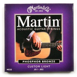 Corzi chitara acustica Martin and Co M 535
