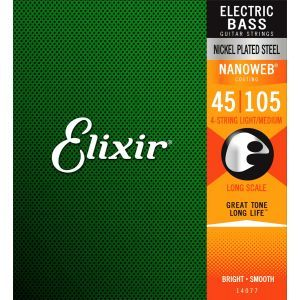 Elixir Nanoweb Light Medium Long Scale 045 105 seria 14077