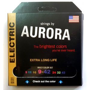 Corzi chitara electrica Aurora Electric 9-42 MultiColored