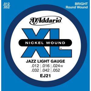 Corzi Chitara Electrica Daddario Ej21 Nickel Wound Jazz Light