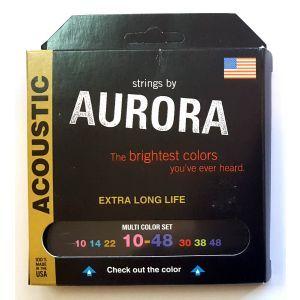 Corzi chitara acustica Aurora Acoustic 10s MultiColored
