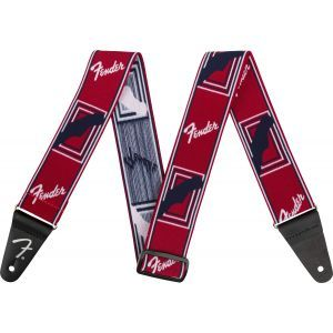 Fender Weighless 2 Monogram Strap Red/White/Blue