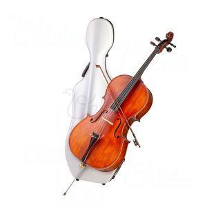 Cutie carbon violoncel Valida V500C White