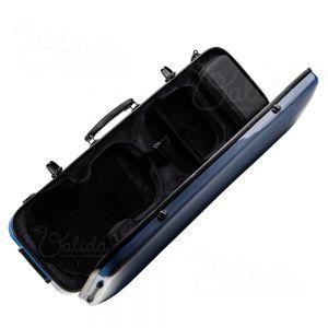 Valida Fiber Glass Violin Case V510 Blue