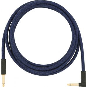 Fender Angled Festival Instrument Cable Blue Blue Dream