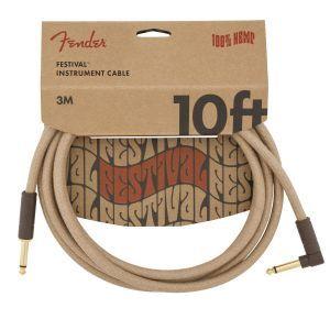 Fender Festival Hemp Instrument Cables Natural