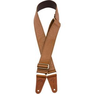 Fender Tooled Leather Guitar Strap 2 Brown