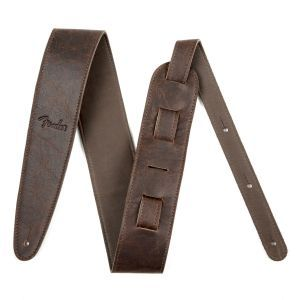 Fender Artisan Crafted Leather Straps - 2.5 Brown