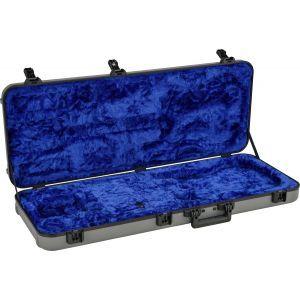 Fender Deluxe Molded Strat/Tele Case Silver/Blue Silver