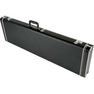 Fender G&G Standard Hardshell Case - Mustang Bass - Musicmaster Bass - Bronco Bass Black with Black Plush Interior