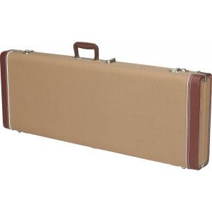 Fender G&G Deluxe Hardshell Cases - Jazz Bass Tweed with Red Poodle Plush Interior