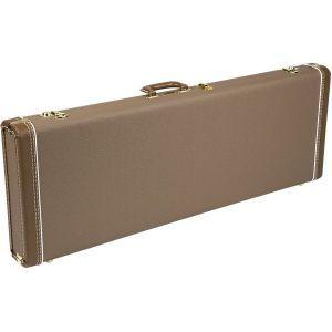 Fender G&G Deluxe Hardshell Cases - Jaguar - Jazzmaster - Toronado - Jagmaster Brown with Gold Plush Interior