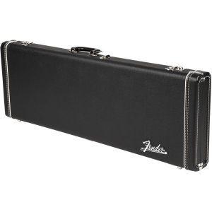 Fender G&G Deluxe Hardshell Cases - Stratocaster/Telecaster Left-Handed Black with Orange Plush Interior