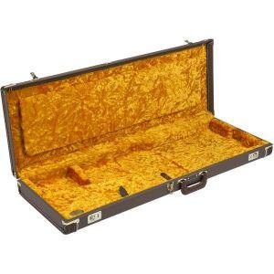 Fender G&G Deluxe Hardshell Cases - Stratocaster/Telecaster Brown with Gold Plush Interior