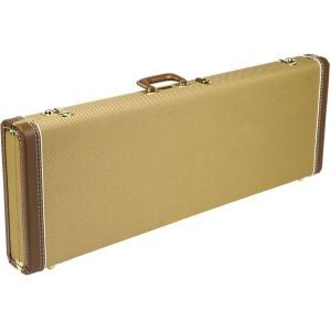 Fender G&G Deluxe Hardshell Cases - Stratocaster/Telecaster Tweed with Red Poodle Plush Interior