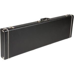 Fender Precision Bass/Jazz Bass Multi-Fit Hardshell Case - Left Handed Black with Black Plush Interior