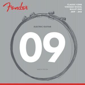 Fender Classic Core Electric Guitar Strings Vintage Nickel Bullet Ends