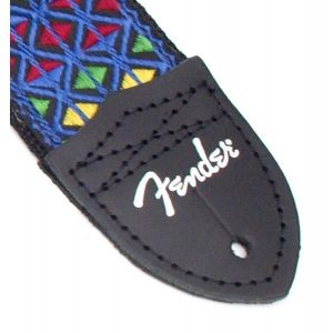 Fender Eric Johnson Signature Strap Blue with Multi-Colored Triangle Pattern