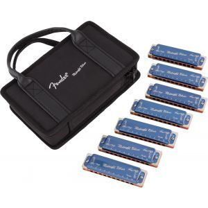Fender Midnight Blues Harmonicas - 7-Pack with Case
