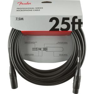 Fender Professional Series Microphone Cable Black