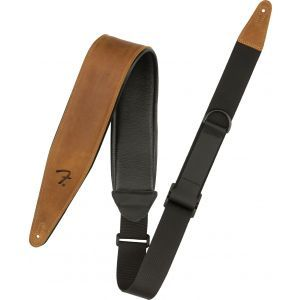 Fender Right Height Leather Strap Cognac