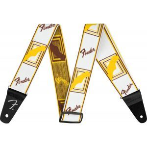 Fender WeighLess Monogram Strap White
