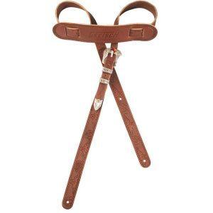 Gretsch Vintage Tooled Leather Straps Walnut