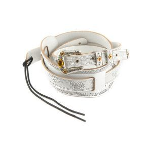 Gretsch Vintage Tooled Leather Straps White