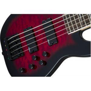 Jackson JS Series Concert Bass JS3VQ Transparent Red Burst