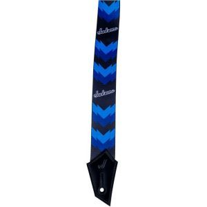 Jackson Strap with Double V Pattern Black and Blue