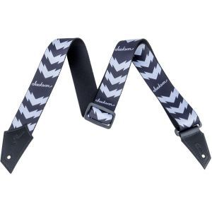 Jackson Strap with Double V Pattern Black and White