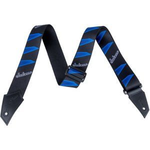 Jackson Strap with Headstock Pattern Black and Blue